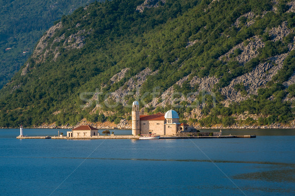 Montenegro island with ancient monastery Our Lady of the Rocks  Stock photo © Steffus