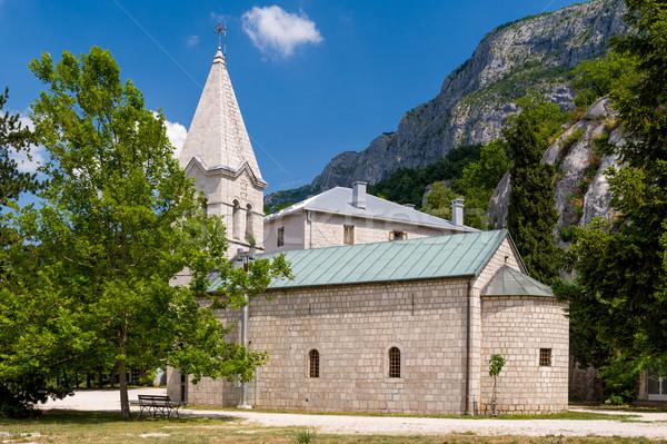 Velho capela mosteiro torre baixar igreja Foto stock © Steffus
