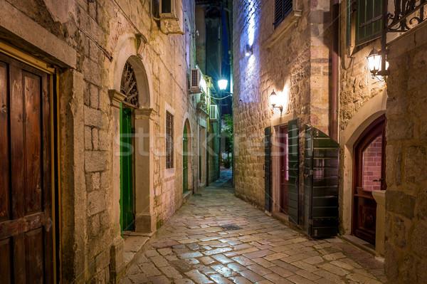 Kotor historical town narrow street Stock photo © Steffus