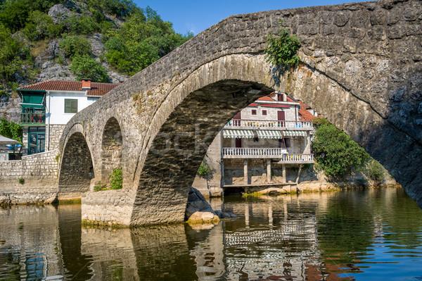 古い アーチ 橋 川 表示 ストックフォト © Steffus