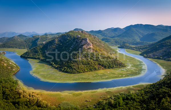 River Crnojevica canyon viewpoint between the mountains of Montenegro Stock photo © Steffus
