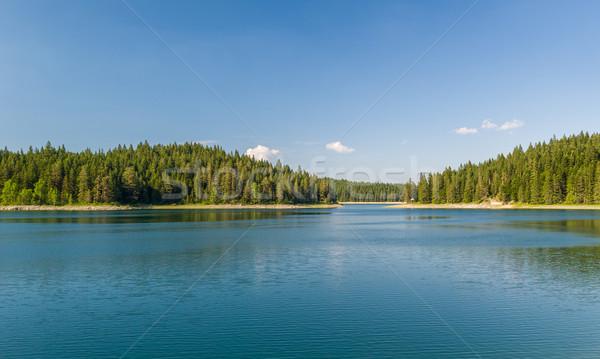 美しい 湖 島々 カバー 山 ストックフォト © Steffus
