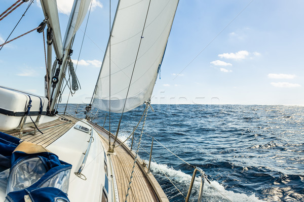 Yacht sail in the Atlantic ocean at sunny day cruise Stock photo © Steffus