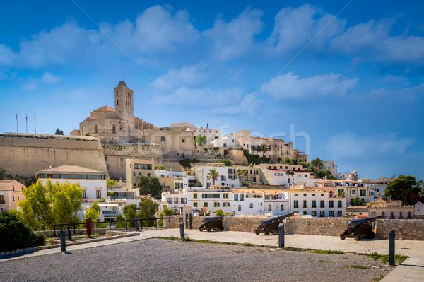 Fortaleza medieval isla ciudad España casa Foto stock © Steffus