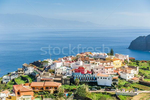 Typical Canary village on the cape of La Gomera island Stock photo © Steffus