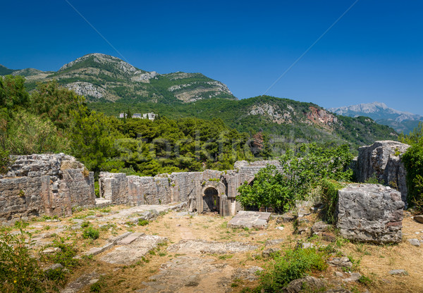 Ratac medieval fortress in Montenegro ruins. Stock photo © Steffus