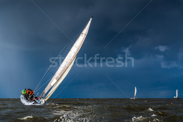 Sailing in a gale Stock photo © Steffus