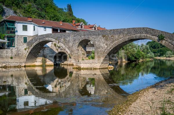 старые моста мнение Размышления реке Сток-фото © Steffus