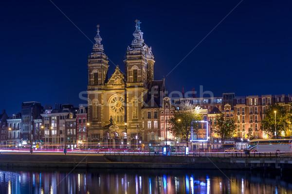 St. Nicholas at night Stock photo © Steffus