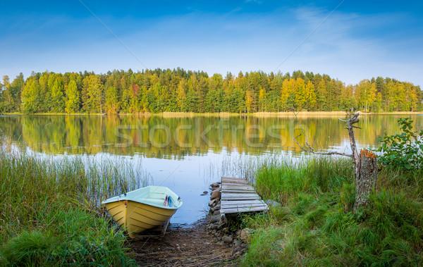 Nothern lake at autumn Stock photo © Steffus