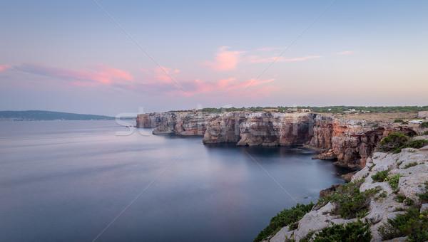закат морской пейзаж острове побережье Испания Сток-фото © Steffus