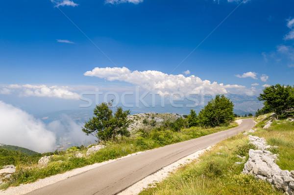 Черногория горные дороги облака пусто Сток-фото © Steffus