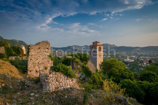 Бар крепость средневековых часы башни древних Сток-фото © Steffus