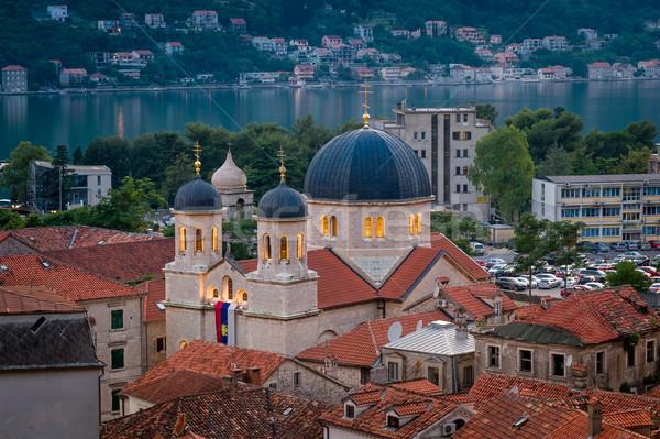 католический собора ночь Черногория здании город Сток-фото © Steffus