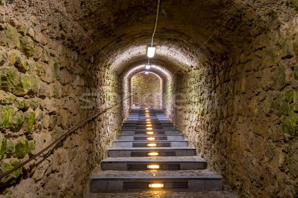 ősi alagút kő történelmi titok út Stock fotó © Steffus