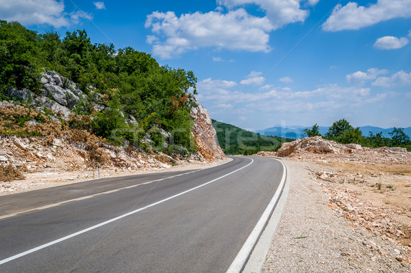 горные шоссе Черногория идеальный пусто дороги Сток-фото © Steffus