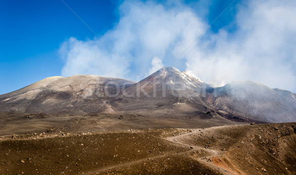 Mount Enta volcano peaks Stock photo © Steffus