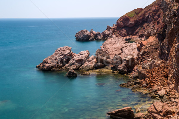 Adriatic sea red rocks coast. Stock photo © Steffus