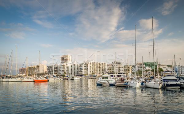 ヨット マリーナ 島々 スペイン 空 スポーツ ストックフォト © Steffus