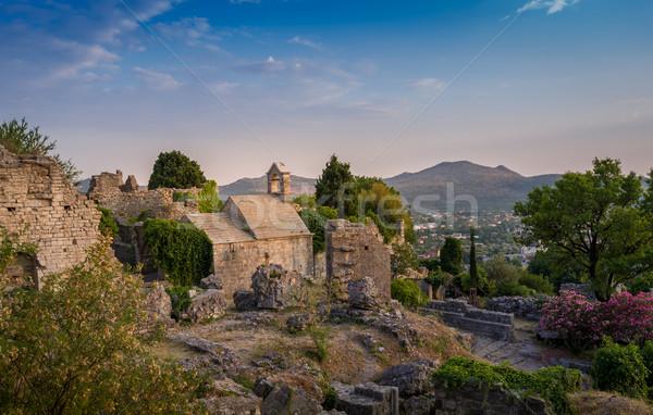 Old chapel and Bar fortress ruins Stock photo © Steffus