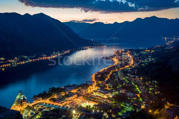 Сток-фото: ночь · мнение · старые · монастырь · гор · Панорама