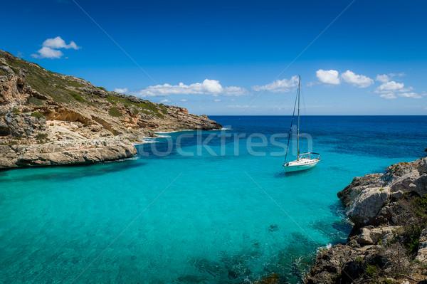 яхта мечта парусного пребывание бирюзовый прозрачный Сток-фото © Steffus