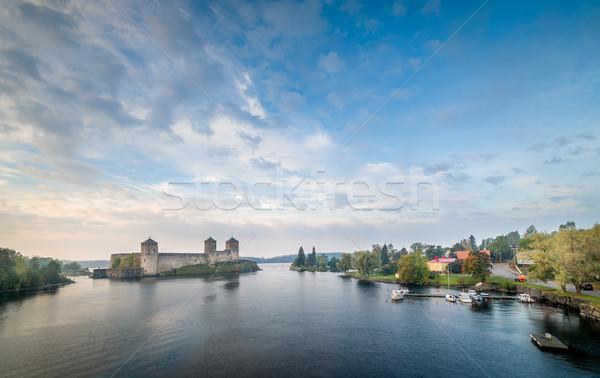 Панорама панорамный пейзаж крепость город Финляндия Сток-фото © Steffus