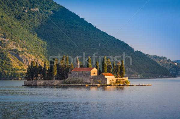 古い 修道院 島 風景 水 ストックフォト © Steffus