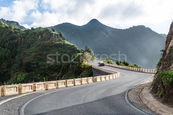 Mountain roads to wild beach. Tenerife. Stock photo © Steffus