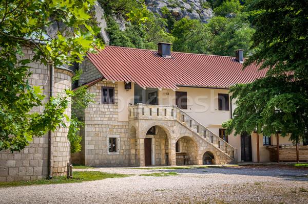 Edifícios mosteiro histórico complexo Montenegro casa Foto stock © Steffus