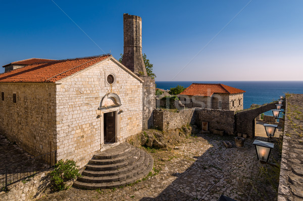 Archaeological museum in historical buildings of Ulcinj old town Stock photo © Steffus