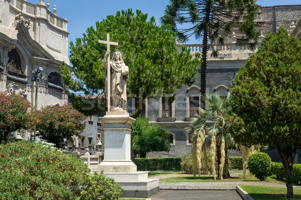 Estatua histórico religiosas ciudad sicilia Italia Foto stock © Steffus