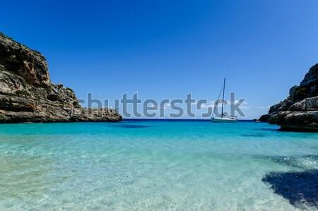парусного яхта паруса лодка Средиземное море Сток-фото © Steffus
