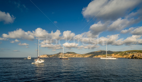 Sailing yachts anchorage Stock photo © Steffus