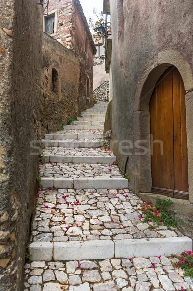 Narrow street of Forsa d'Agro. Stock photo © Steffus