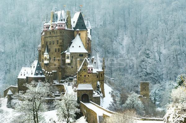 城 冬 ショット 建物 雪 橋 ストックフォト © Steffus