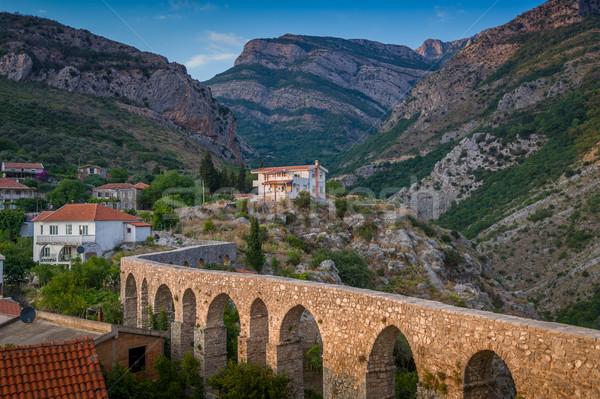 древних каменные моста Бар Черногория старый город Сток-фото © Steffus