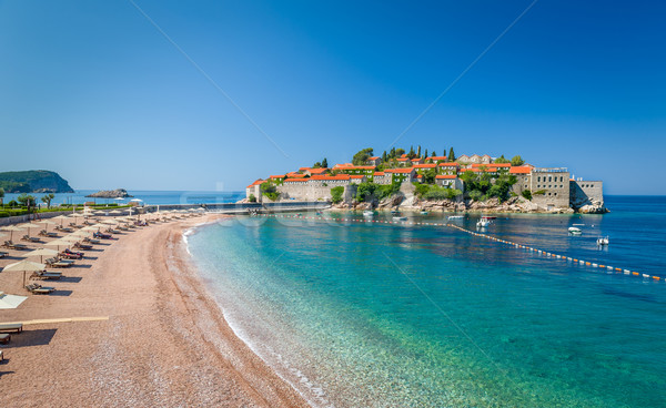 Sveti Stefan luxury touristic resort landscape Stock photo © Steffus