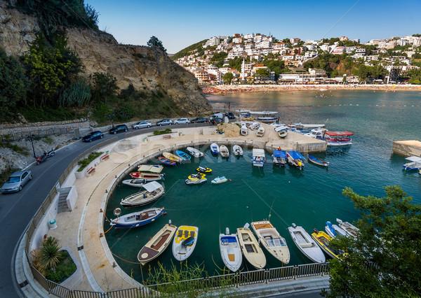 Small fishing boats marina. Ulcinj, Montenegro. Stock photo © Steffus