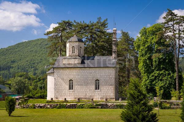 裁判所 教会 モンテネグロ 古代 建物 雲 ストックフォト © Steffus