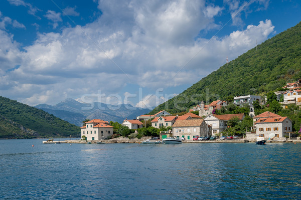 Lepetane old village in the Kotor bay Stock photo © Steffus