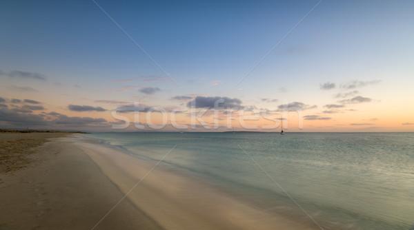 Island beach before sunrise Stock photo © Steffus