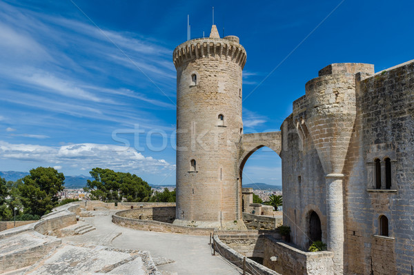 Bellver Castle front tower Stock photo © Steffus
