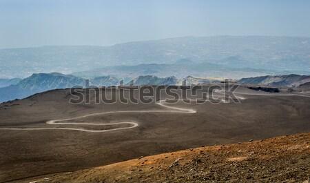 道路 先頭 火山 パス シチリア島 イタリア ストックフォト © Steffus