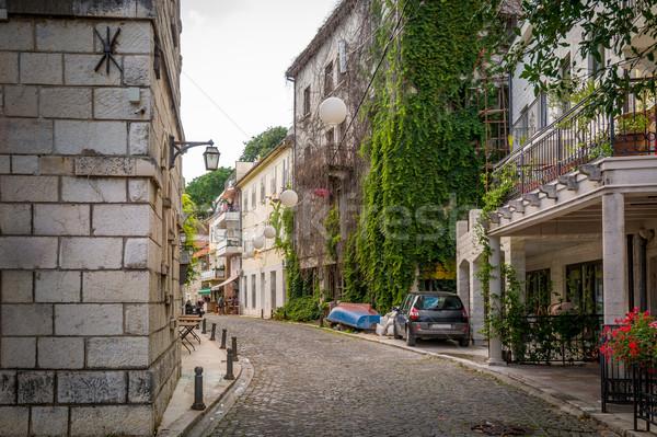 Cidade velha rua histórico casas Montenegro céu Foto stock © Steffus