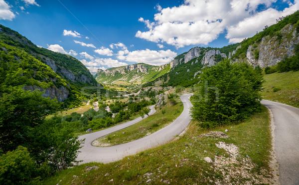 Dağ yol kanyon nehir Stok fotoğraf © Steffus