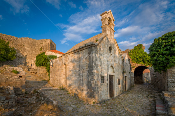 Eski küçük kilise bar kale Karadağ kilise Stok fotoğraf © Steffus