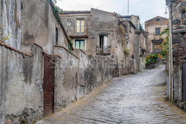 Forsa d'Agro ancient streets. Sicily. Stock photo © Steffus