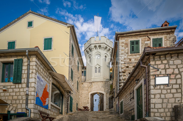 Clock tower in the Herceg Novi old town Stock photo © Steffus