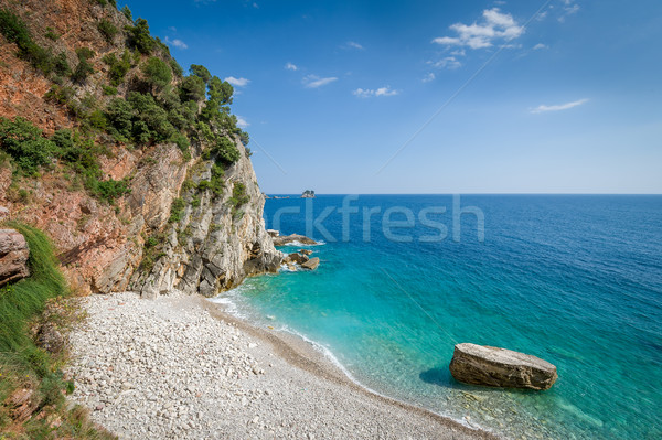 Montenegro wild strand landschap beroemd Stockfoto © Steffus